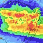 **ALERTA** Chuva volumosa nas áreas sob enchentes