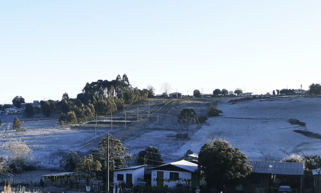 Mais de 40 municípios gaúchos abaixo de zero