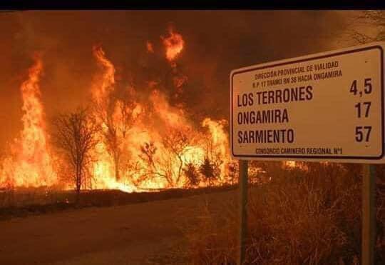 Dramática situação na Argentina por incêndios florestais