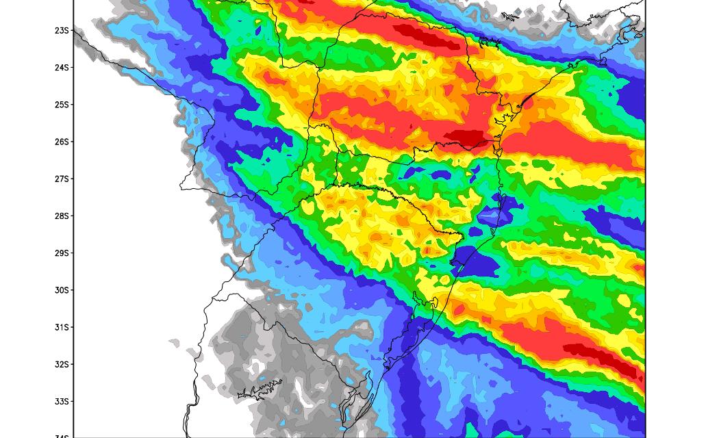 Previsão do tempo – Chuva e temporais no Sul do Brasil