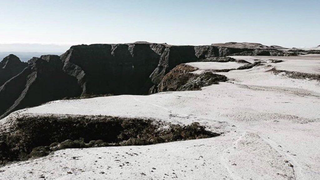 Satélite registrou paisagem nevada no Sul do Brasil