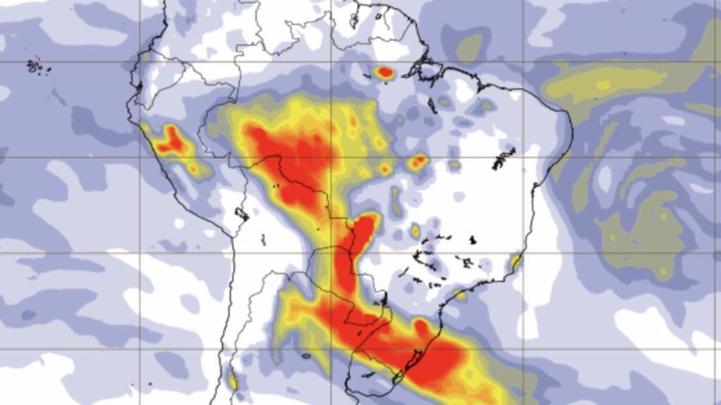Muita fumaça do Paraguai, Pantanal e Amazônia sobre o Rio Grande do Sul