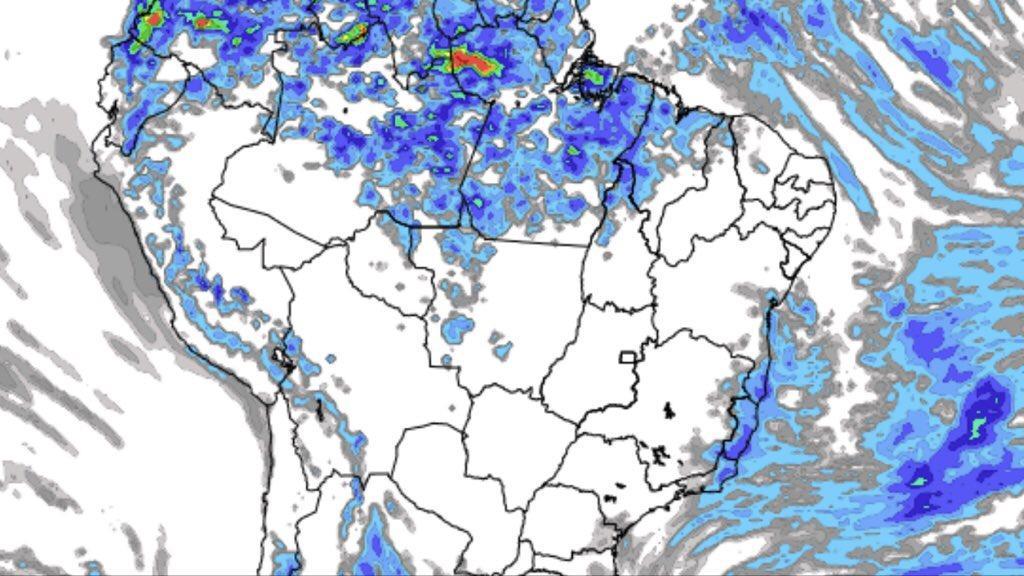 Previsão do tempo – Tendência de chuva no Brasil