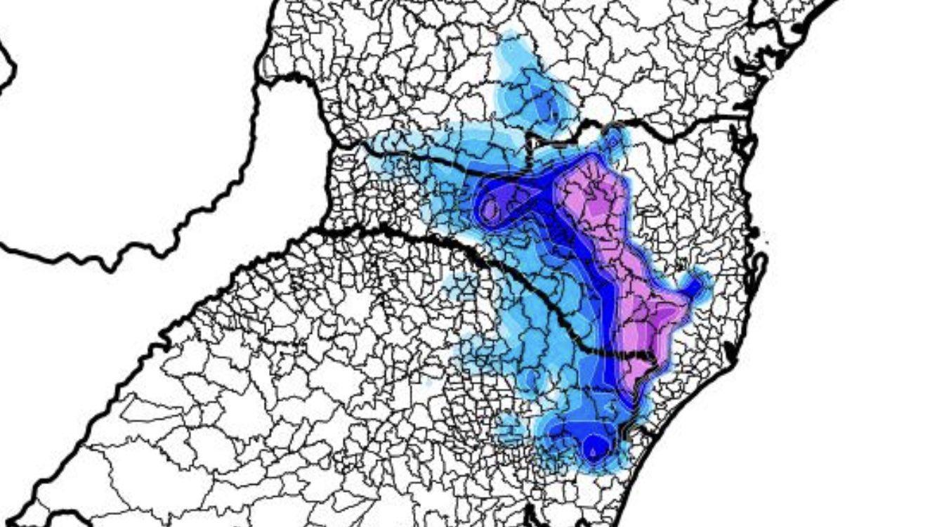 **ALERTA** Frio polar e neve no Sul do Brasil