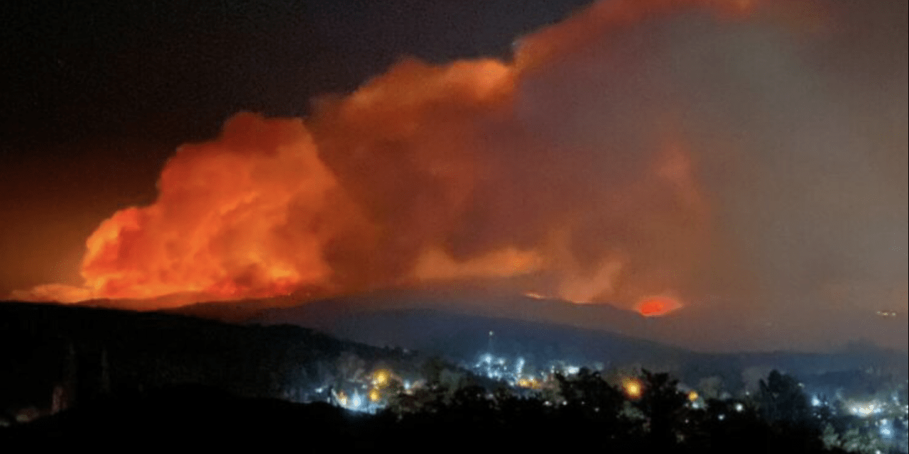 Enorme incêndio florestal na Argentina