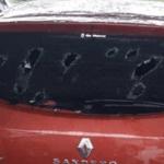 Granizo destrutivo destroça vidros de automóveis em SC