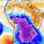*ALERTA* Poderosa incursão polar com potencial histórico e de neve afetará metade do Brasil