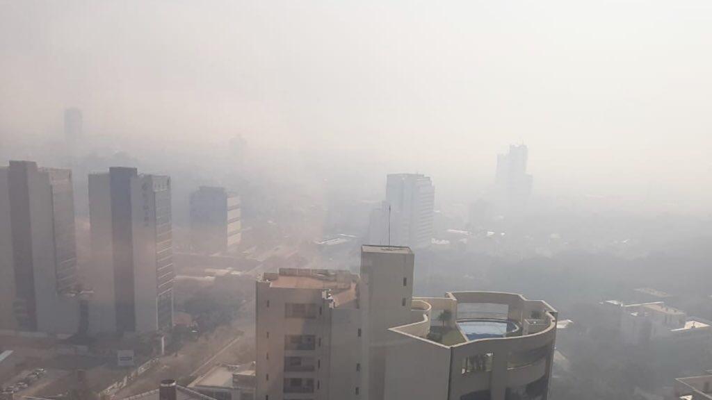 Paraguai sob fumaça e calor de quase 40°C