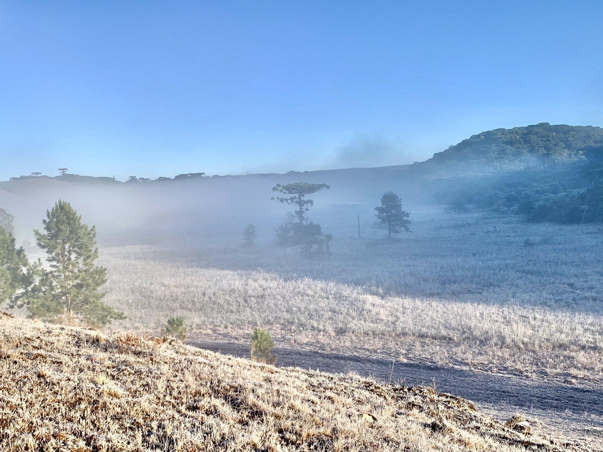 Quase 70 municípios com estações abaixo de zero no Rio Grande do Sul