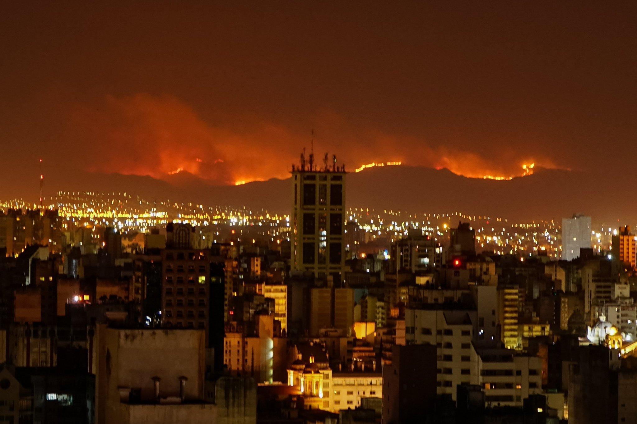 Incêndios seguem fora de controle em Córdoba
