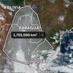 Fumaça cobre 2,6 milhões de km² na América do Sul