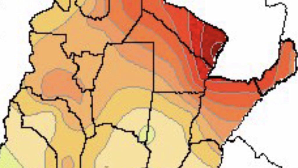 Calor bate recorde para agosto na Argentina