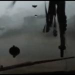 Raro video gravado dentro do tornado em Santa Catarina