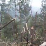 Tornado atingiu fronteira da Argentina com o Rio Grande do Sul