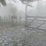 Forte temporal de granizo atinge a fronteira gaúcha