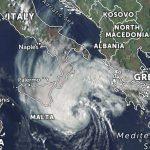 Ciclone intenso no Mediterrâneo