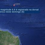Forte terremoto no oceano ao Norte do Ceará