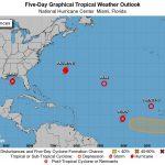 Cinco ciclones tropicais ao mesmo tempo no Atlântico Norte