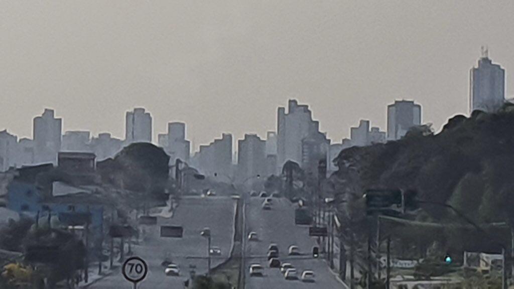 Fumaça do Pantanal e Amazônia sobre São Paulo e o Paraná