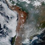 Fumaça da Amazônia e Pantanal chegou ao Norte da Patagônia