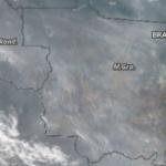 Satélite mostra o Mato Grosso tomado por fumaça