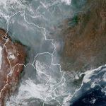 Muita fumaça de queimadas chegando ao Rio Grande do Sul