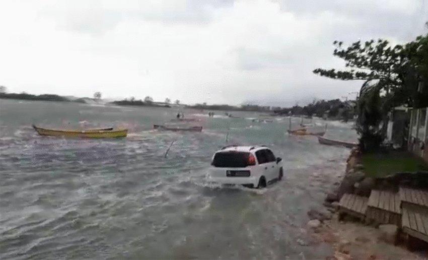 Tsunami atingiu Santa Catarina com estragos, aponta estudo