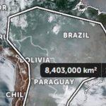 Metade da América do Sul coberta por fumaça