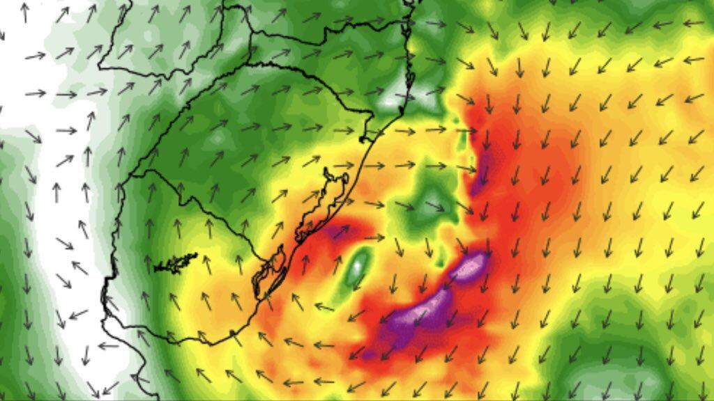 **ALERTA** Ciclone se forma no Rio Grande do Sul