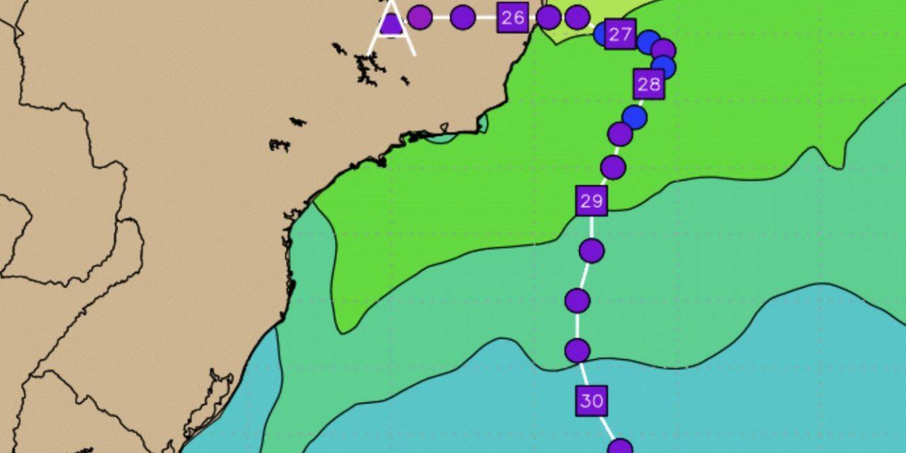 Ciclone subtropical pode se formar no Litoral do Sudeste