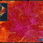 Satélite mede 55°C no solo em São Paulo e no Centro-Oeste