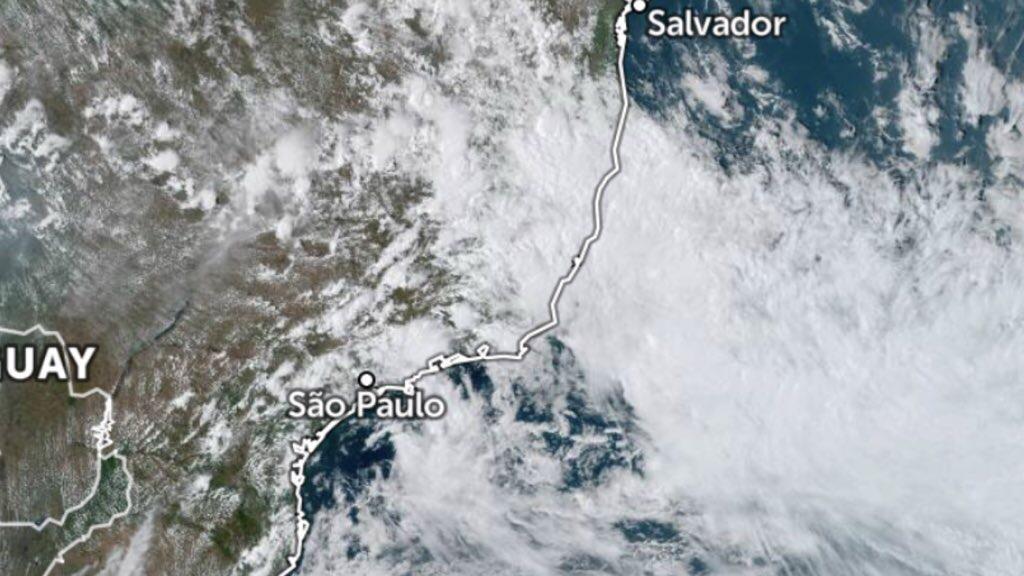 Ciclone subtropical atinge o Sudeste do Brasil