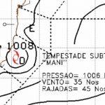 Ciclone no Sudeste – Tempestade subtropical Maní se forma