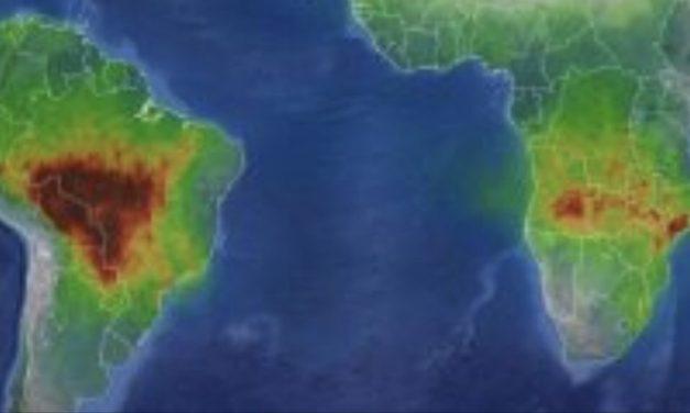 A África está queimando muito mais que o Brasil e a América do Sul?