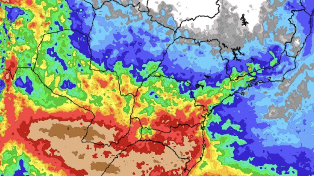 """<span class=""""entry-title-primary""""><span style='color:#ff0000;font-size:14px;'>PREVISÃO DO TEMPO </span><br> Previsão do tempo – Tendência de chuva para sete dias</span> <span class=""""entry-subtitle"""">Sul do Brasil terá os maiores volumes de chuva nos próximos dias </span>"""