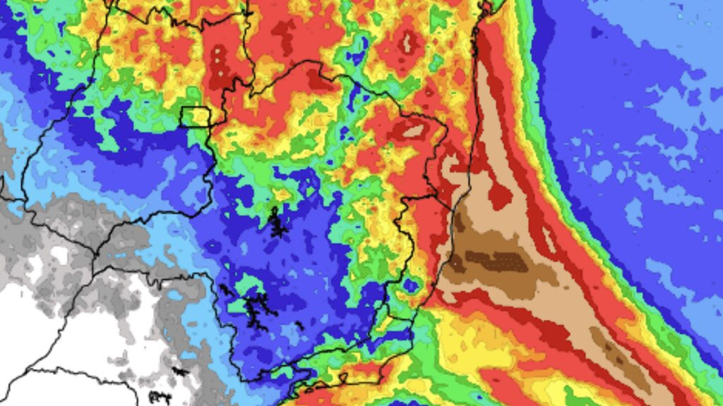 """<span class=""""entry-title-primary"""">Previsão do tempo – Tendência de chuva para sete dias</span> <span class=""""entry-subtitle"""">Precipitação deve ser irregular no período no Sul do Brasil </span>"""