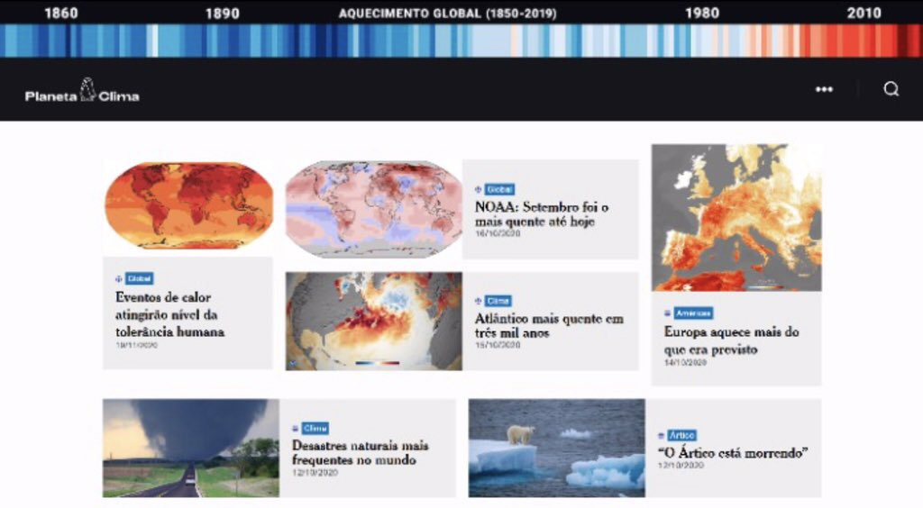 CUIDANDO DO FUTURO  MetSul estreia página sobre mudanças climáticas Planeta Clima vai se dedicar às últimas informações e pesquisas sobre as mudanças climáticas regionais e em escala global