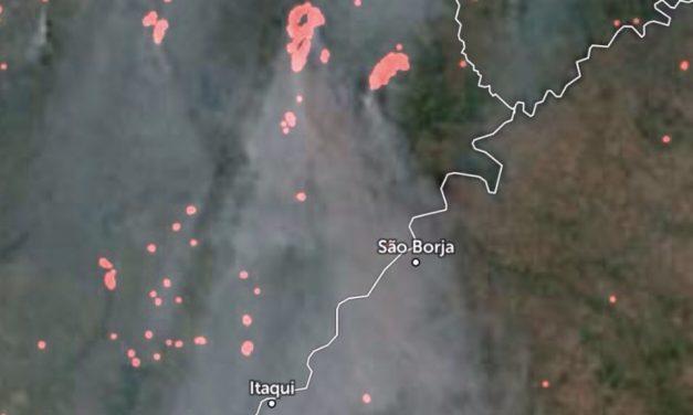 Incêndios na Argentina trazem fumaça pro Oeste gaúcho