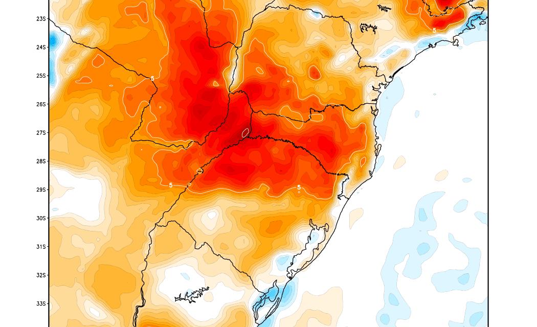 """<span class=""""entry-title-primary"""">Aviso de intenso calor em parte do Sul do Brasil</span> <h2 class=""""entry-subtitle"""">Máximas em alguns pontos devem se aproximar de 40°C neste sábado </h2>"""