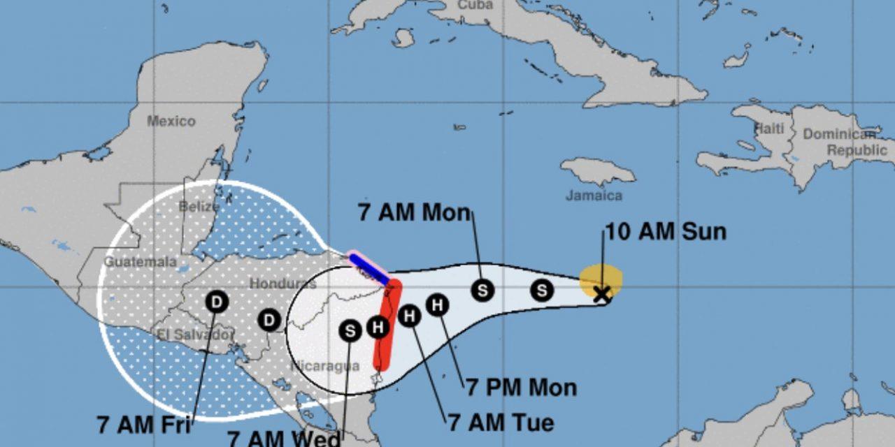 """<span class=""""entry-title-primary""""><span style='color:#ff0000;font-size:14px;'>PARA A HISTÓRIA </span><br> Temporada de furacões de 2020 atinge recorde de tempestades</span> <span class=""""entry-subtitle"""">Formação da tempestade tropical Eta iguala marca de 28 ciclones tropicais nomeados numa mesma temporada de 2005 </span>"""