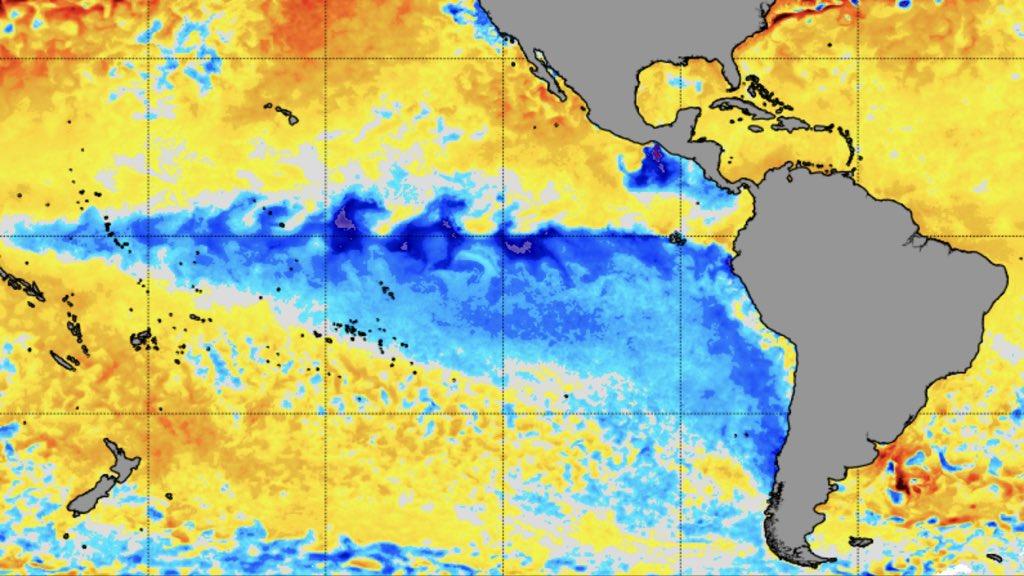 "<span class=""entry-title-primary""><span style='color:#ff0000;font-size:14px;'>DE OLHO NO PACÍFICO </span><br> Fenômeno La Niña ganha força e pode atingir patamar de intenso</span> <span class=""entry-subtitle"">Veja as últimas tendências para o Oceano Pacífico Equatorial</span>"