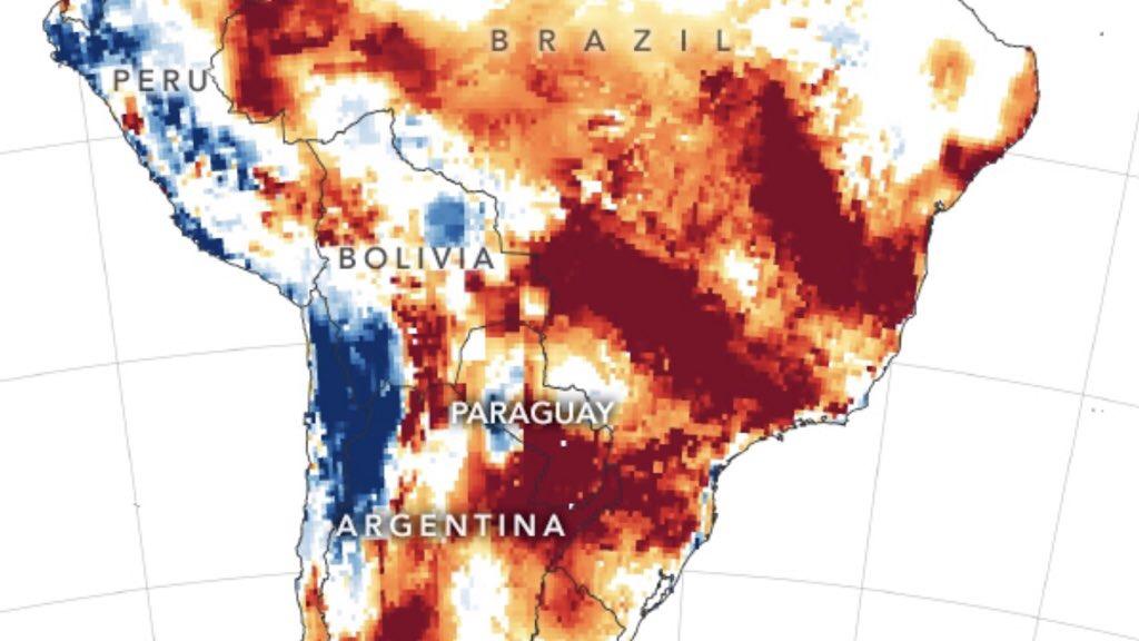 """<span class=""""entry-title-primary"""">Seca histórica atinge a América do Sul</span> <h2 class=""""entry-subtitle"""">Perdas em lavouras, queimadas recordes e comprometimento da navegação entre as consequência </h2>"""