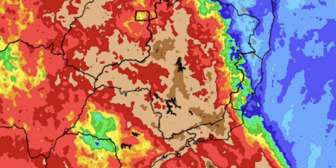 "<span class=""entry-title-primary""><span style='color:#ff0000;font-size:14px;'>CHUVA </span><br> Previsão do tempo – Tendência de chuva para sete dias</span> <span class=""entry-subtitle"">Canal de umidade da Amazonia traz chuva frequente no Brasil Central </span>"