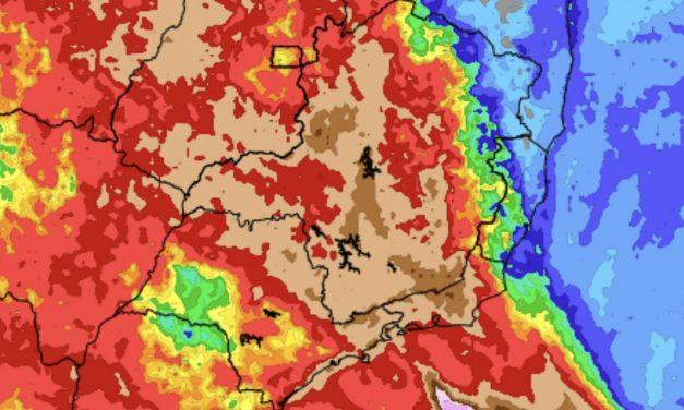 Previsão do tempo – Tendência de chuva para sete dias