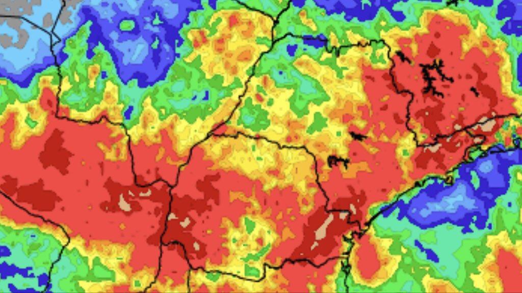 """<span class=""""entry-title-primary"""">Previsão do tempo – Tendência de chuva para dez dias</span> <h2 class=""""entry-subtitle"""">Volumes de chuva no Paraná devem ser altos no período </h2>"""