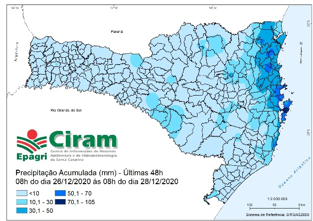 """<span class=""""entry-title-primary"""">Chuva do fim de semana foi mal distribuída em Santa Catarina</span> <span class=""""entry-subtitle"""">Litoral teve muita chuva enquanto mais a Oeste Choveu muito pouco </span>"""
