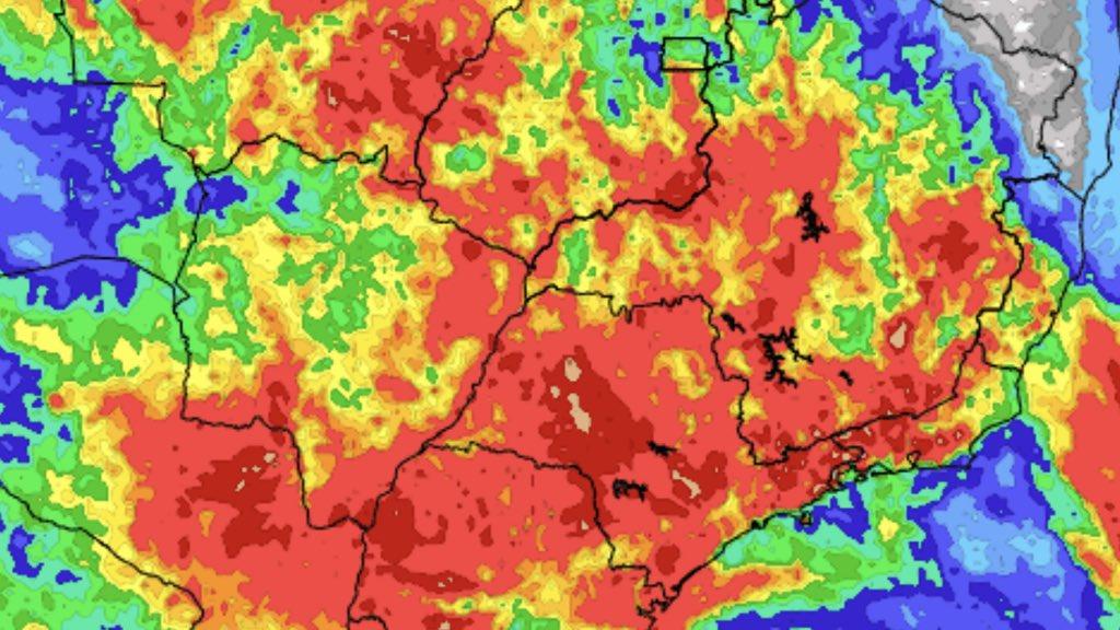 """<span class=""""entry-title-primary"""">Previsão do tempo – Tendência de chuva para sete dias</span> <span class=""""entry-subtitle"""">Minas Gerais deve seguir tendo mais chuva e Rio Grande do Sul terá instabilidade com temporais no fim de semana </span>"""