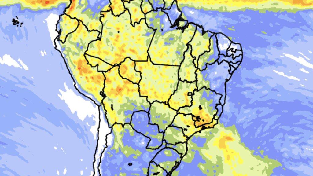 """<span class=""""entry-title-primary"""">Previsão do tempo – Tendência de chuva para dez dias</span> <h2 class=""""entry-subtitle"""">Tempo mais seco no Sul e muita chuva no Sudeste do Brasil </h2>"""