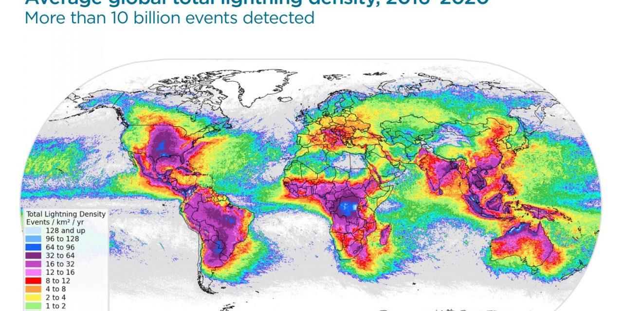 """<span class=""""entry-title-primary"""">A região gaúcha entre as com mais raios no mundo</span> <h2 class=""""entry-subtitle"""">Veja o mapa mundi dos raios no planeta na última meia década </h2>"""