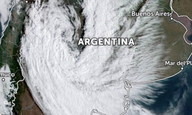 Vórtice ciclônico na Argentina vai mexer com o tempo